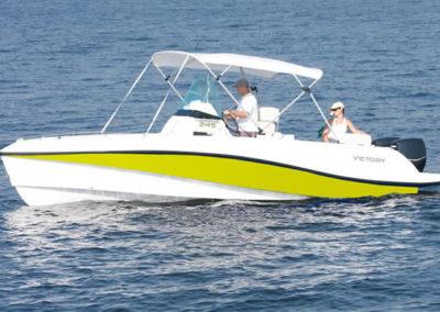 Lancha de Pesca Victory 245 cor amarelo