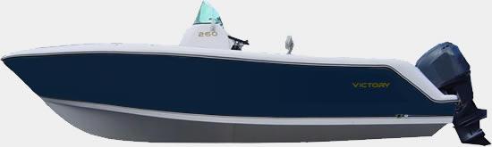 Lancha de Pesca Victory 260 cor Azul