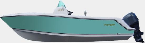 Lancha de Pesca Victory 260 cor Esmeralda