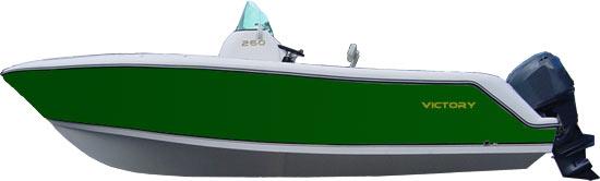 Lancha de Pesca Victory 260 cor Verde