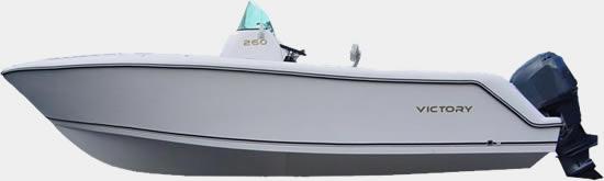 Lancha de Pesca Victory 260 cor Branco